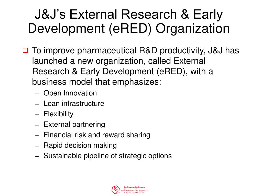 J&J's External Research & Early Development (eRED) Organization