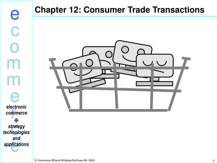 Chapter 12 consumer trade transactions