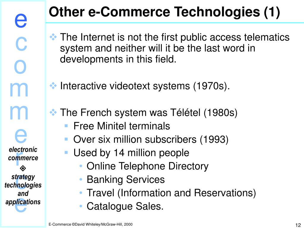 Other e-Commerce Technologies (1)