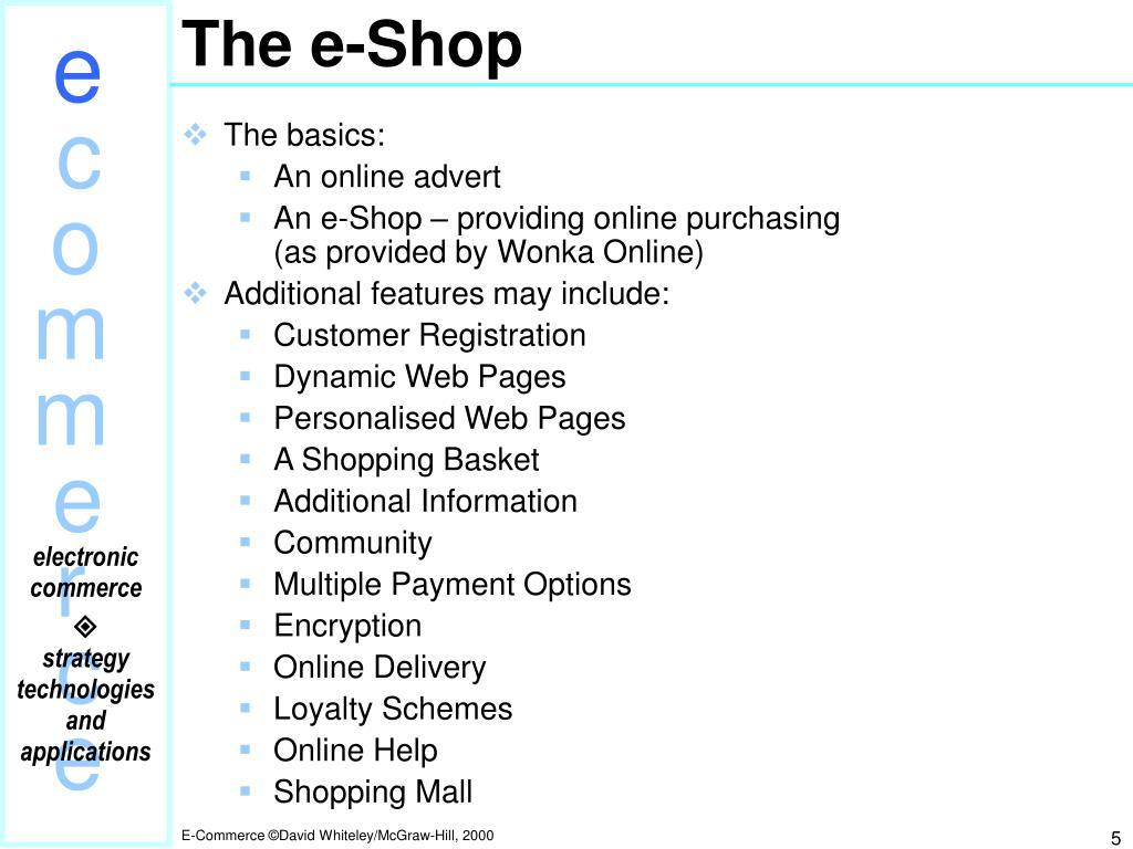 The e-Shop