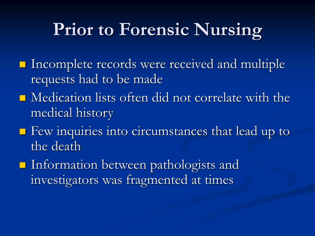 the role of forensic nursing I would like to take this opportunity to highlight this special issue of the journal of forensic nursing  forensic nursing clinical and research roles related to.