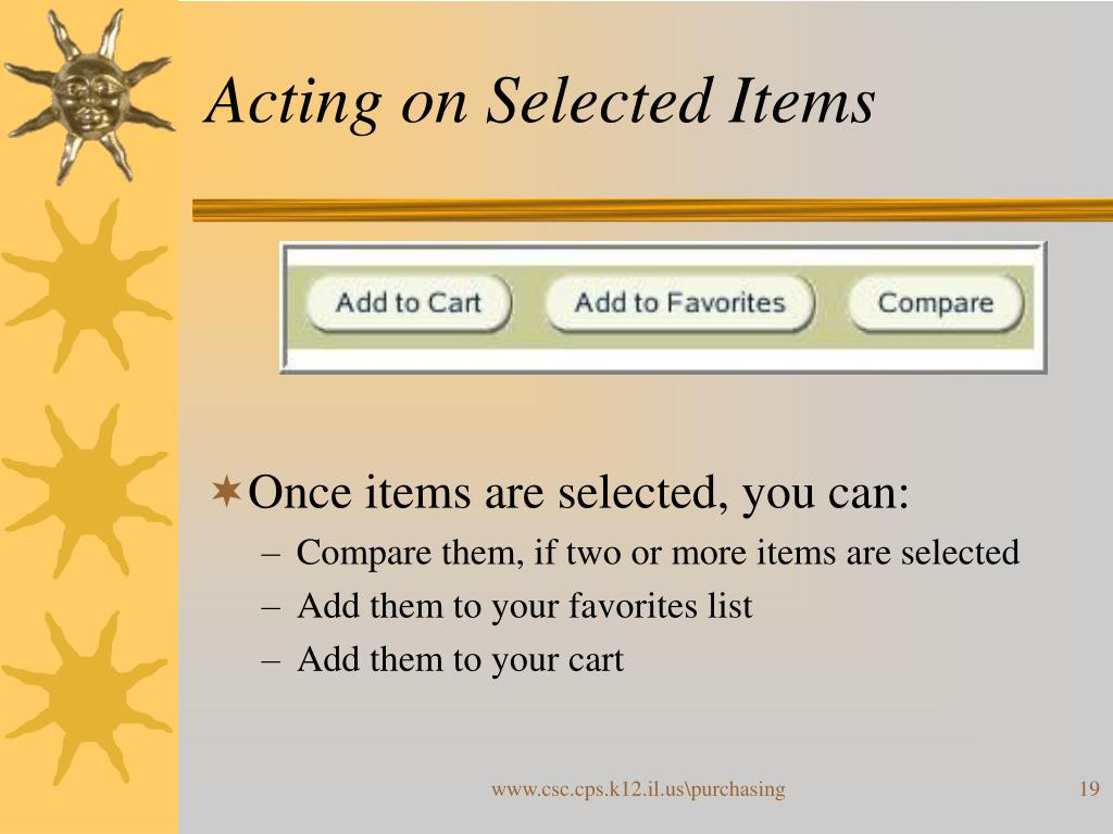 Acting on Selected Items