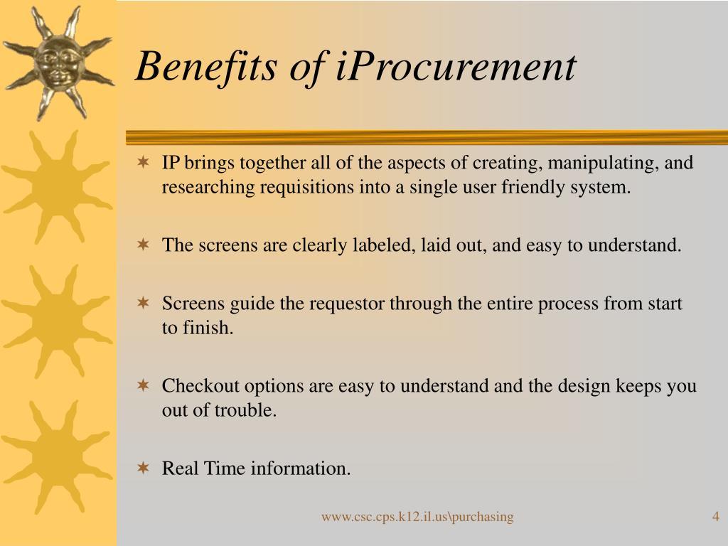 Benefits of iProcurement