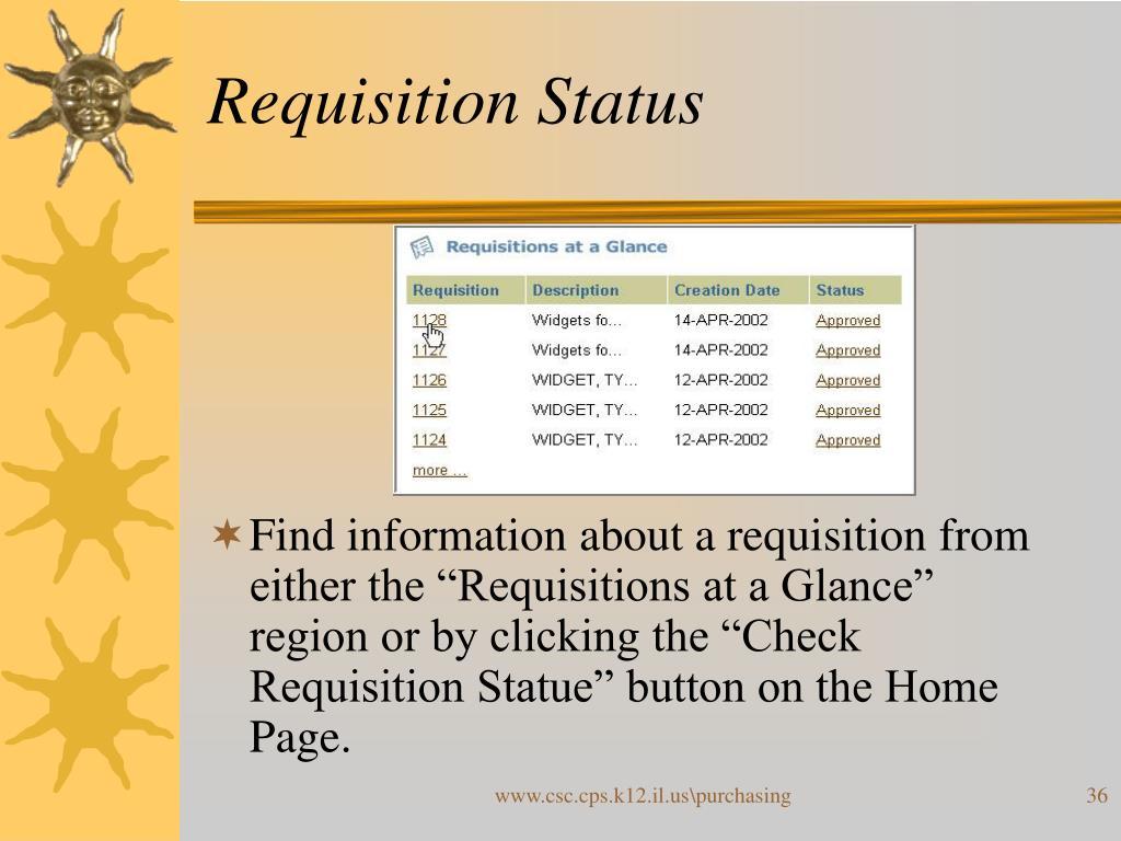 Requisition Status