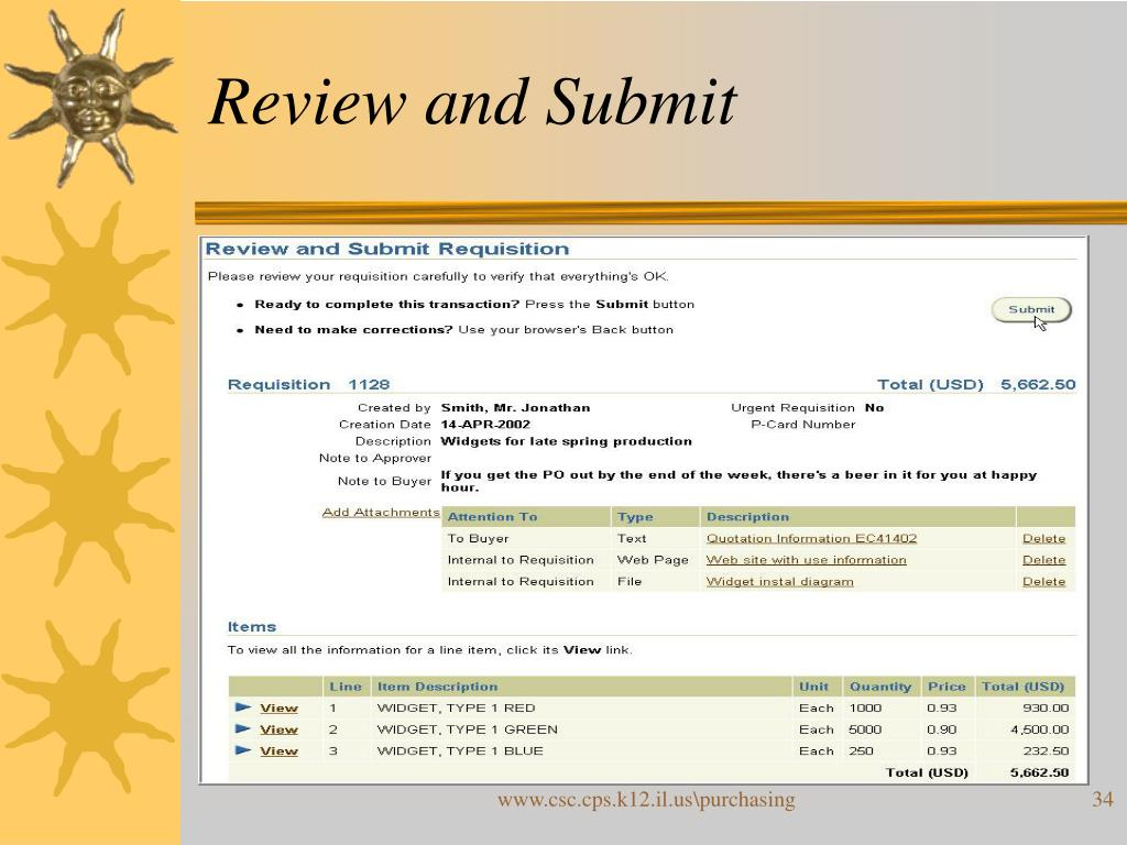 Review and Submit