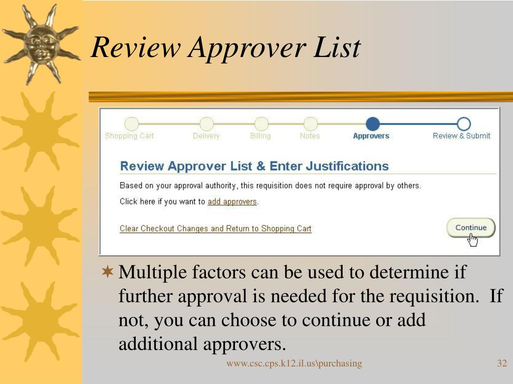 Review Approver List