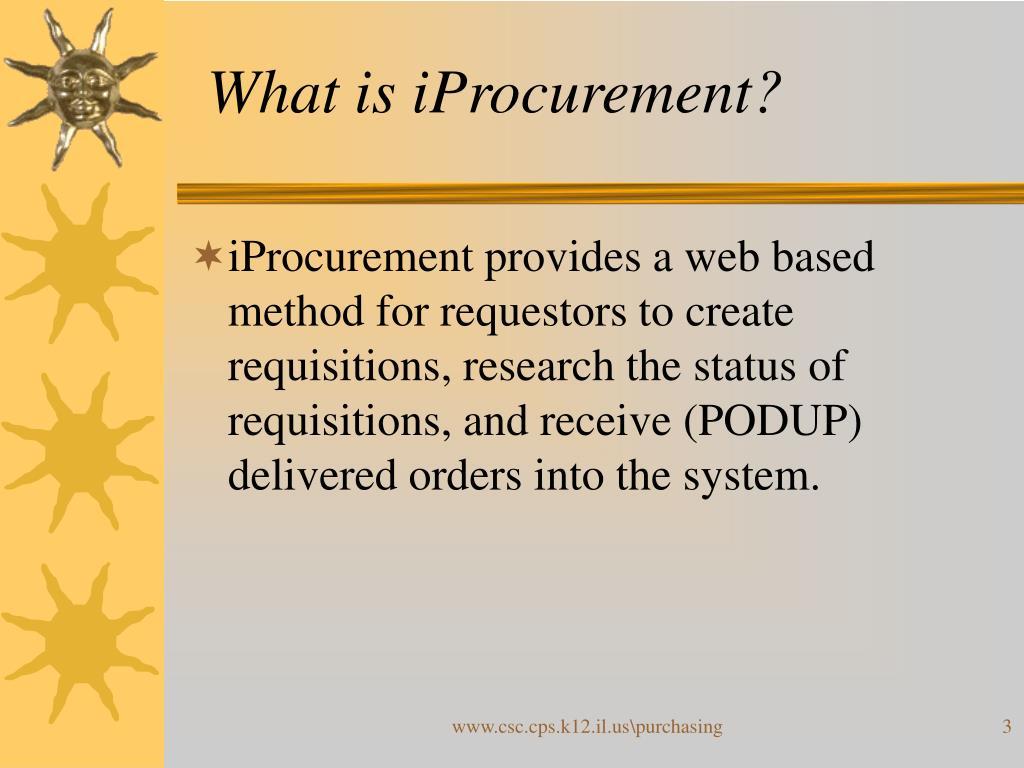 What is iProcurement?