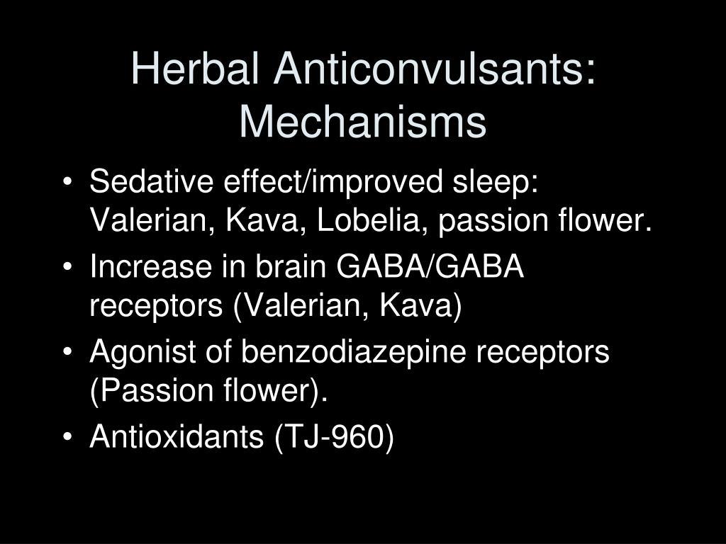 Herbal Anticonvulsants: Mechanisms
