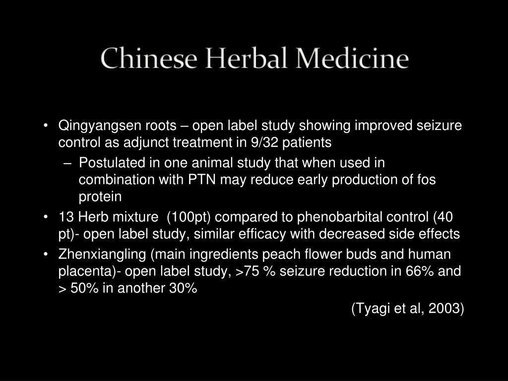Qingyangsen roots – open label study showing improved seizure control as adjunct treatment in 9/32 patients