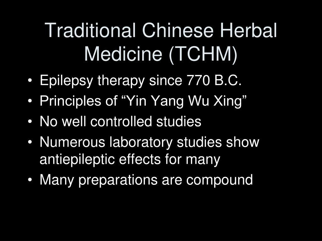 Traditional Chinese Herbal Medicine (TCHM)