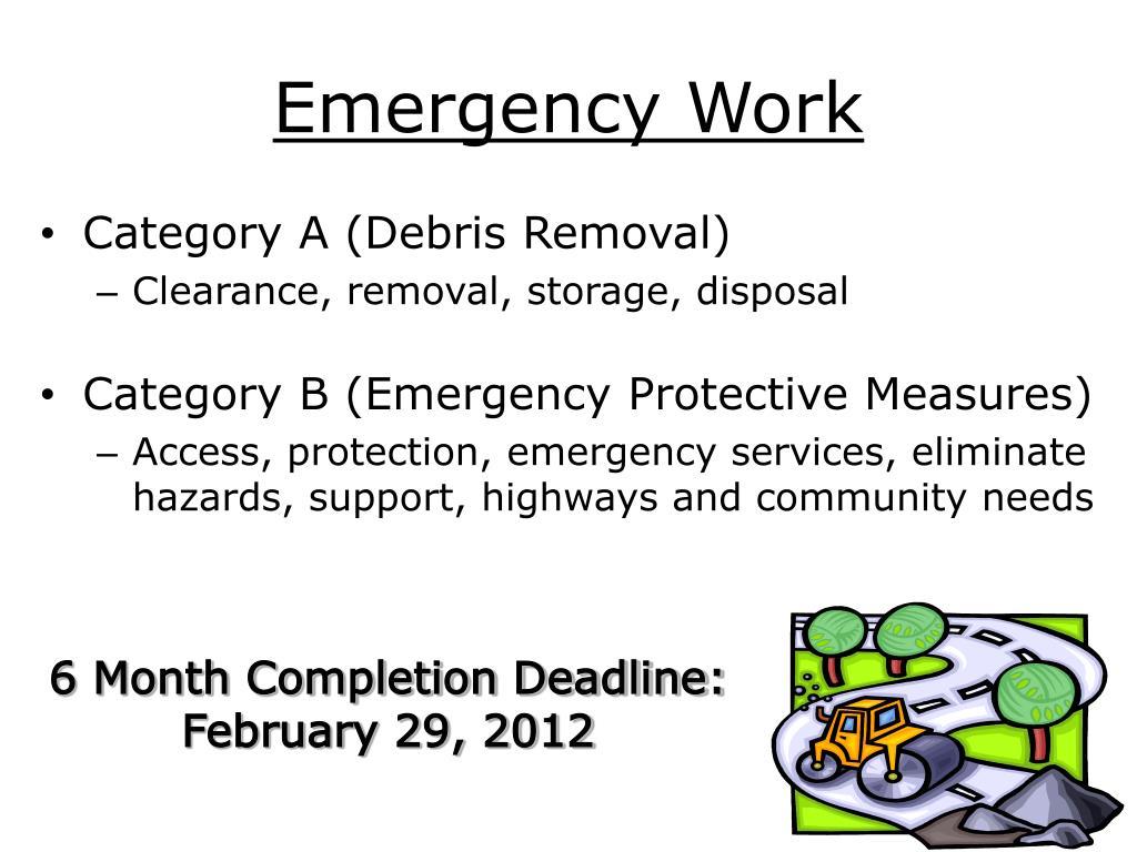 Emergency Work