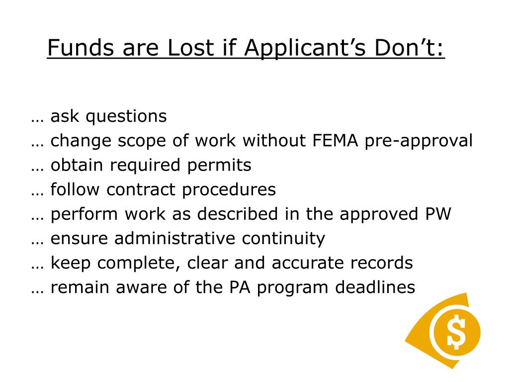 Funds are Lost if Applicant's Don't: