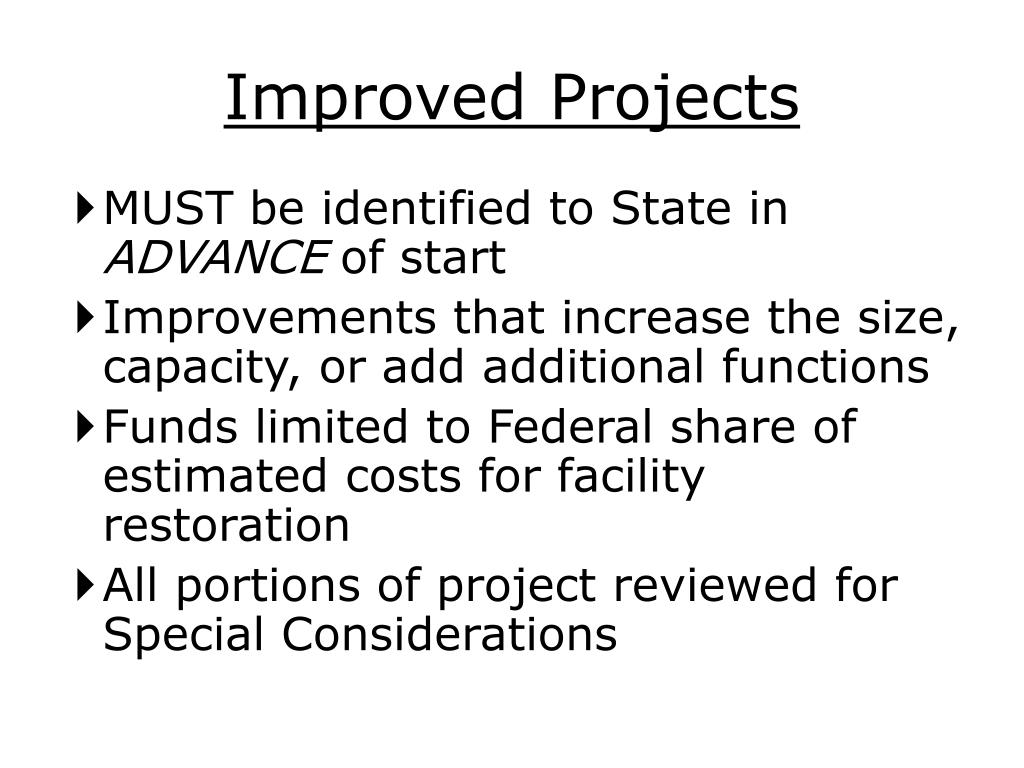 Improved Projects