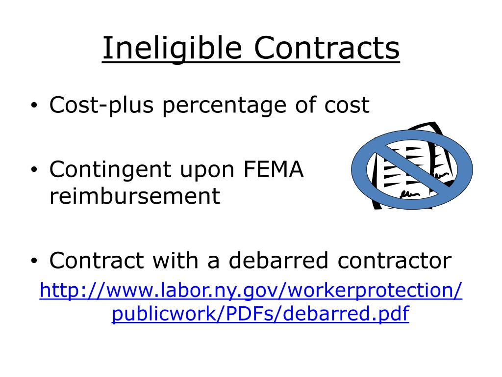 Ineligible Contracts