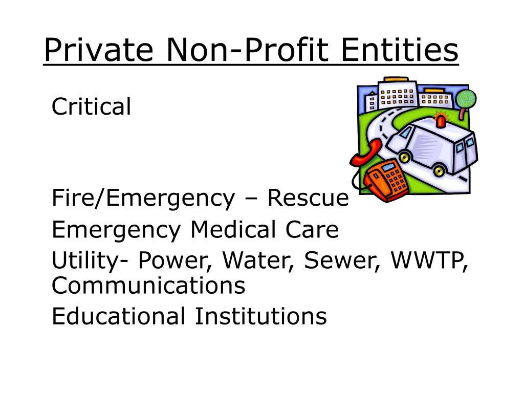 Private Non-Profit Entities
