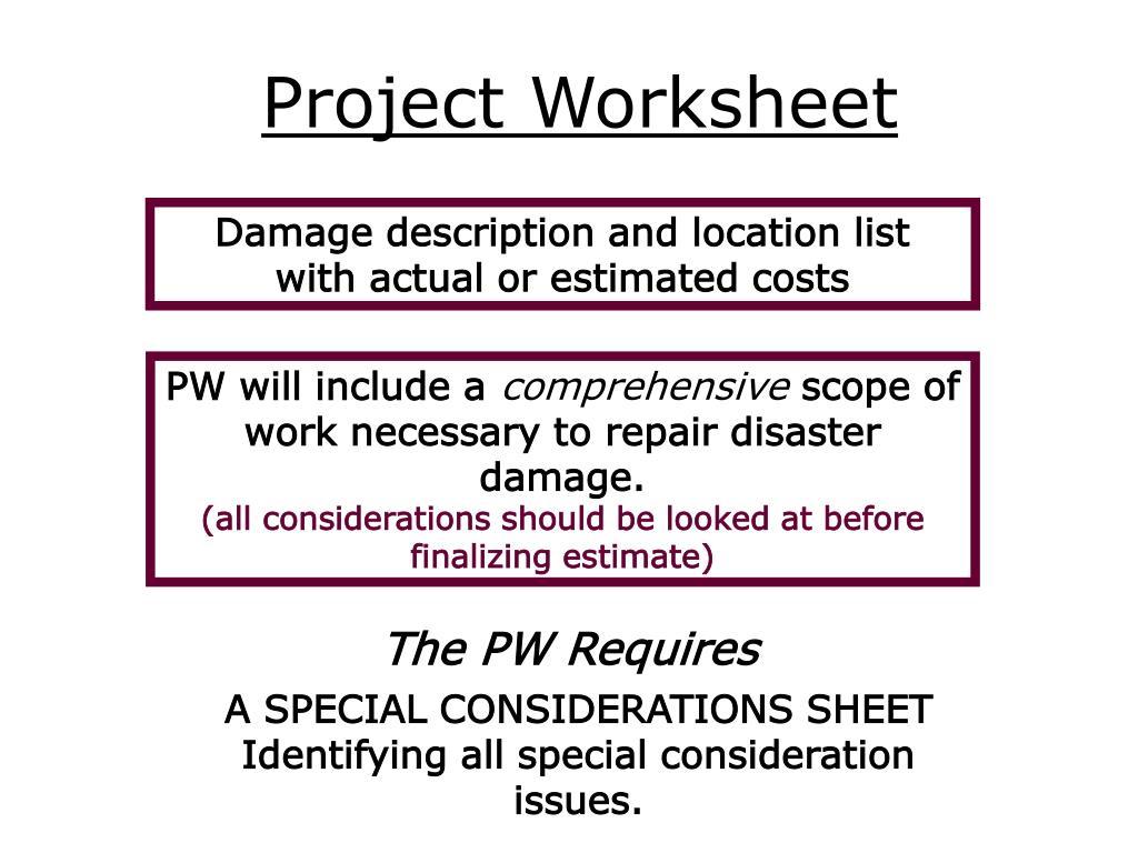 Project Worksheet