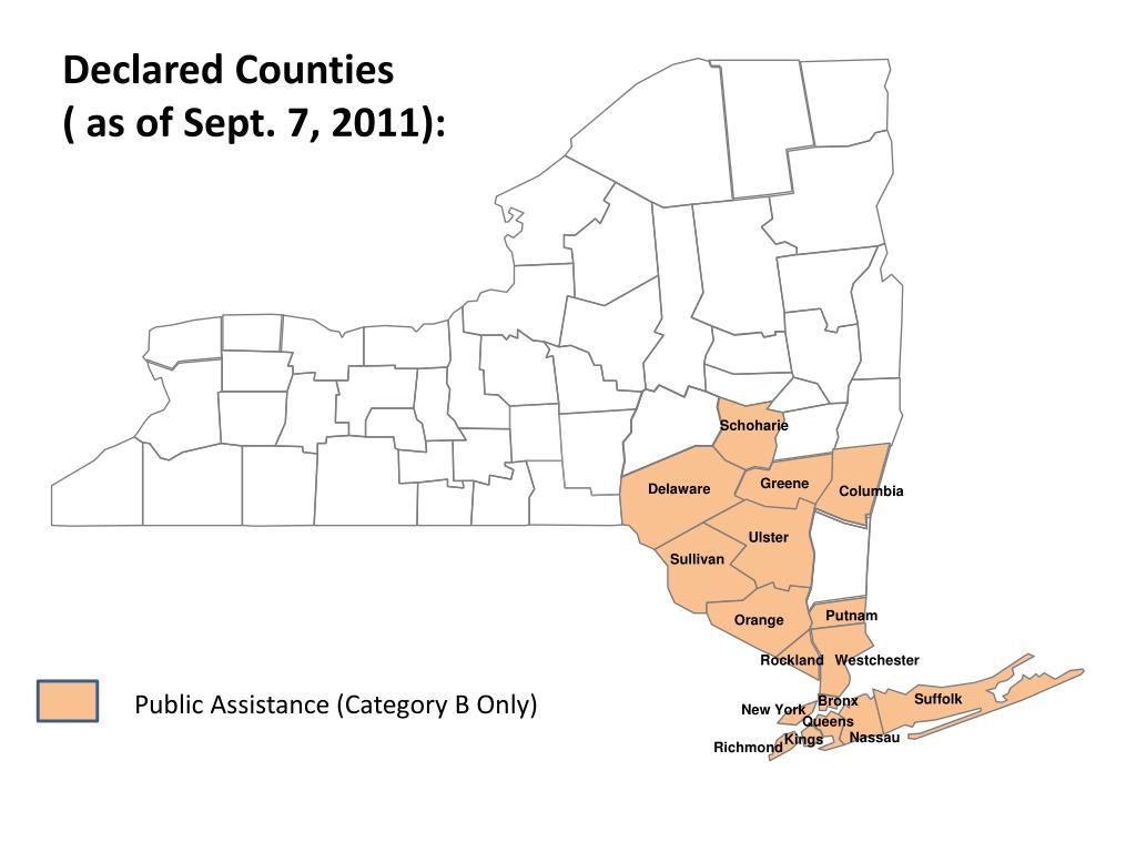 Declared Counties