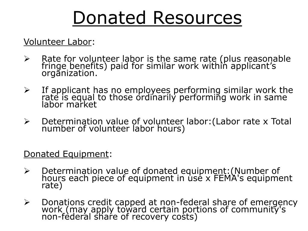 Donated Resources