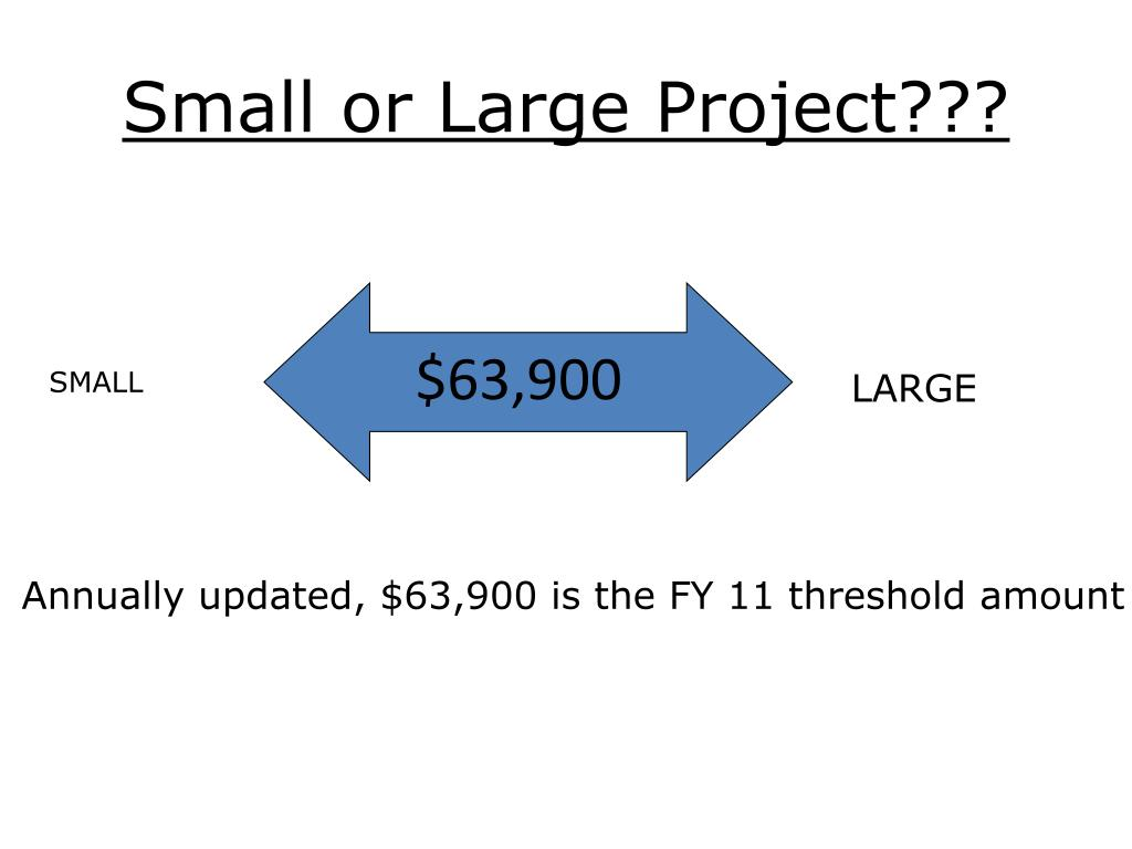 Small or Large Project???