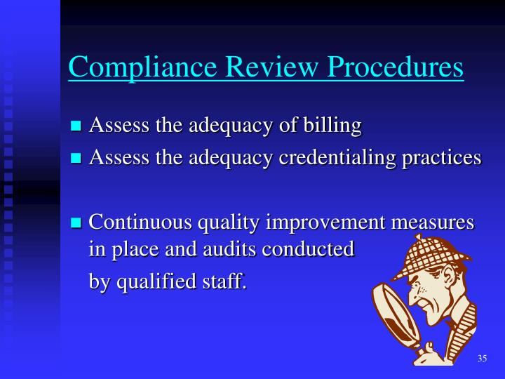 Compliance Review Procedures