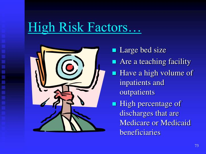 High Risk Factors…