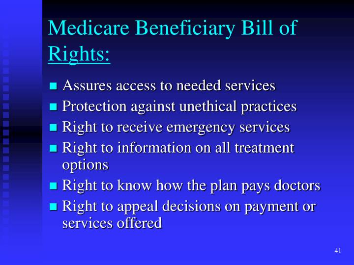 Medicare Beneficiary Bill of