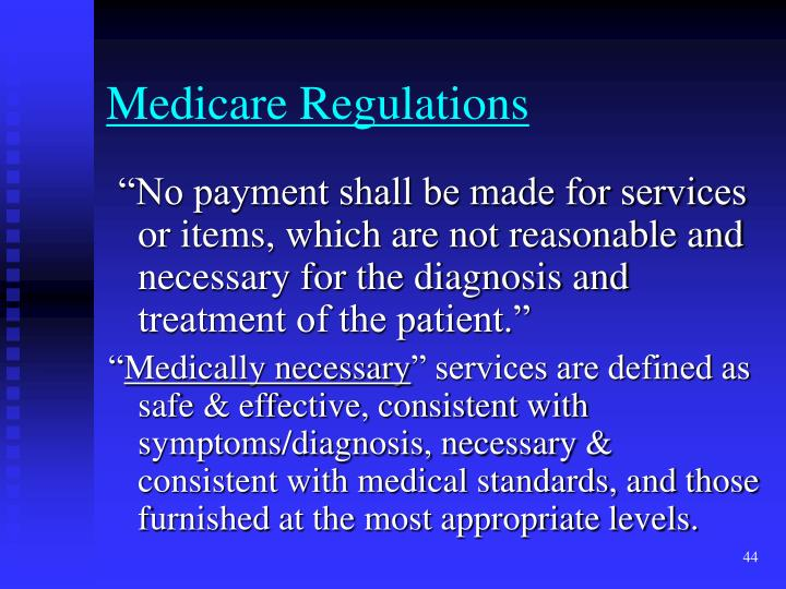 Medicare Regulations