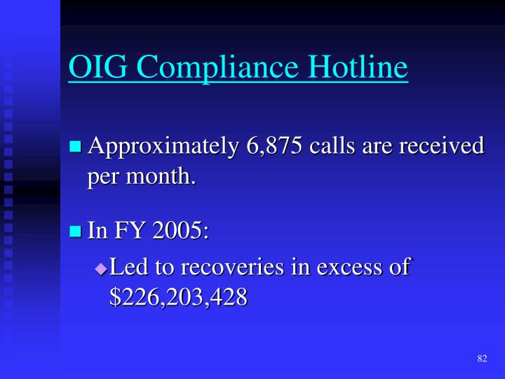 OIG Compliance Hotline