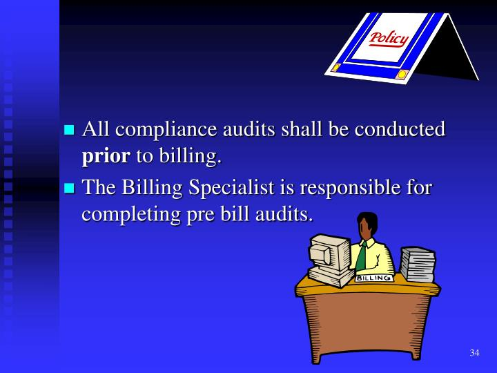 All compliance audits shall be conducted