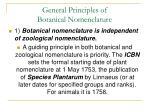general principles of botanical nomenclature