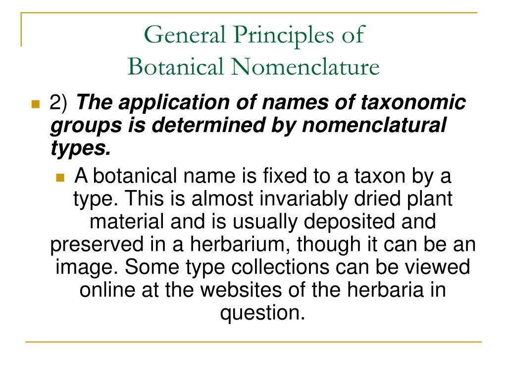 General Principles of