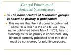 general principles of botanical nomenclature32