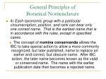 general principles of botanical nomenclature33