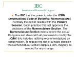 ibc international botanical congress