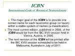 icbn international code of botanical nomenclature