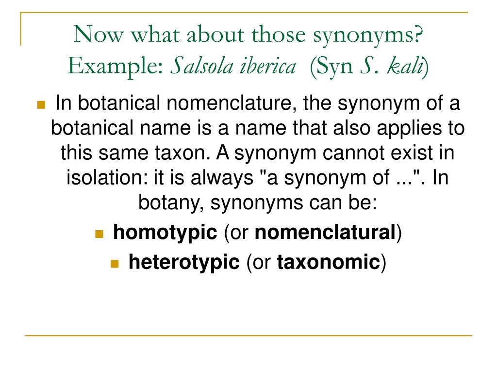 Now what about those synonyms?