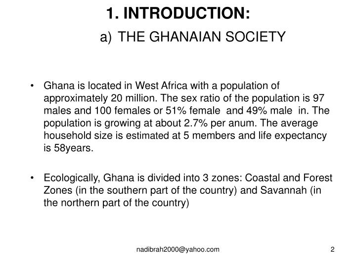 1 introduction a the ghanaian society