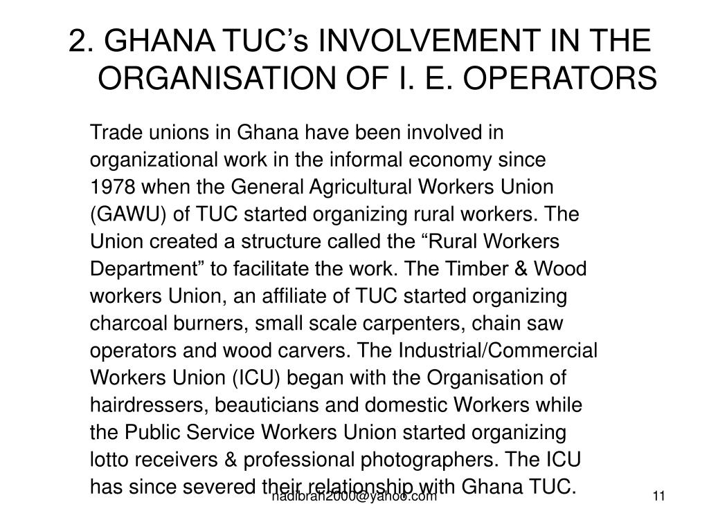 2. GHANA TUC's INVOLVEMENT IN THE