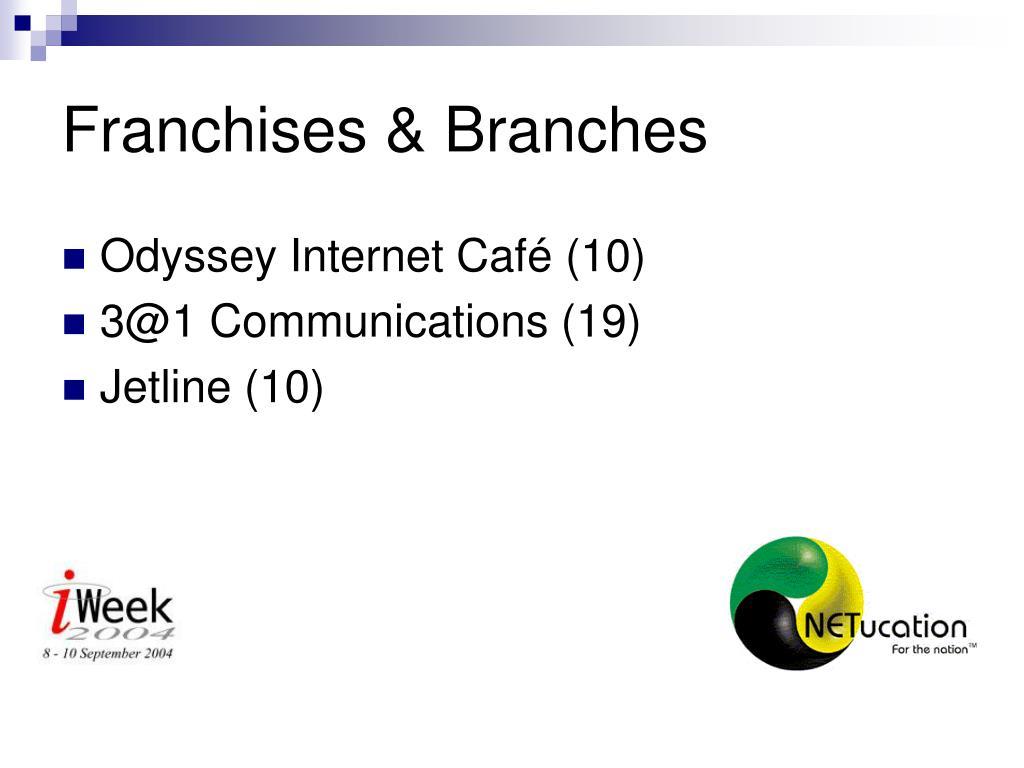 Franchises & Branches