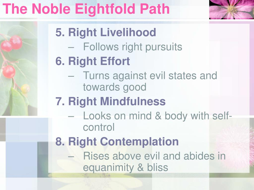 The Noble Eightfold Path