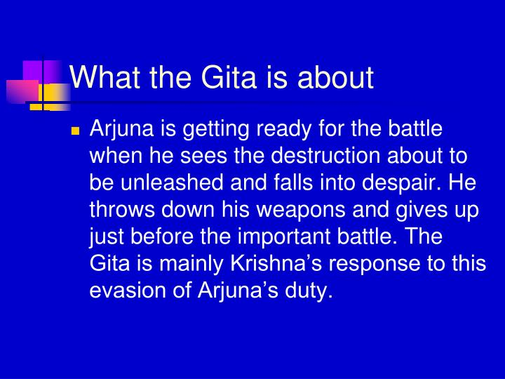 What the Gita is about