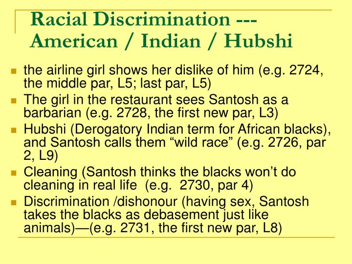 Racial Discrimination ---