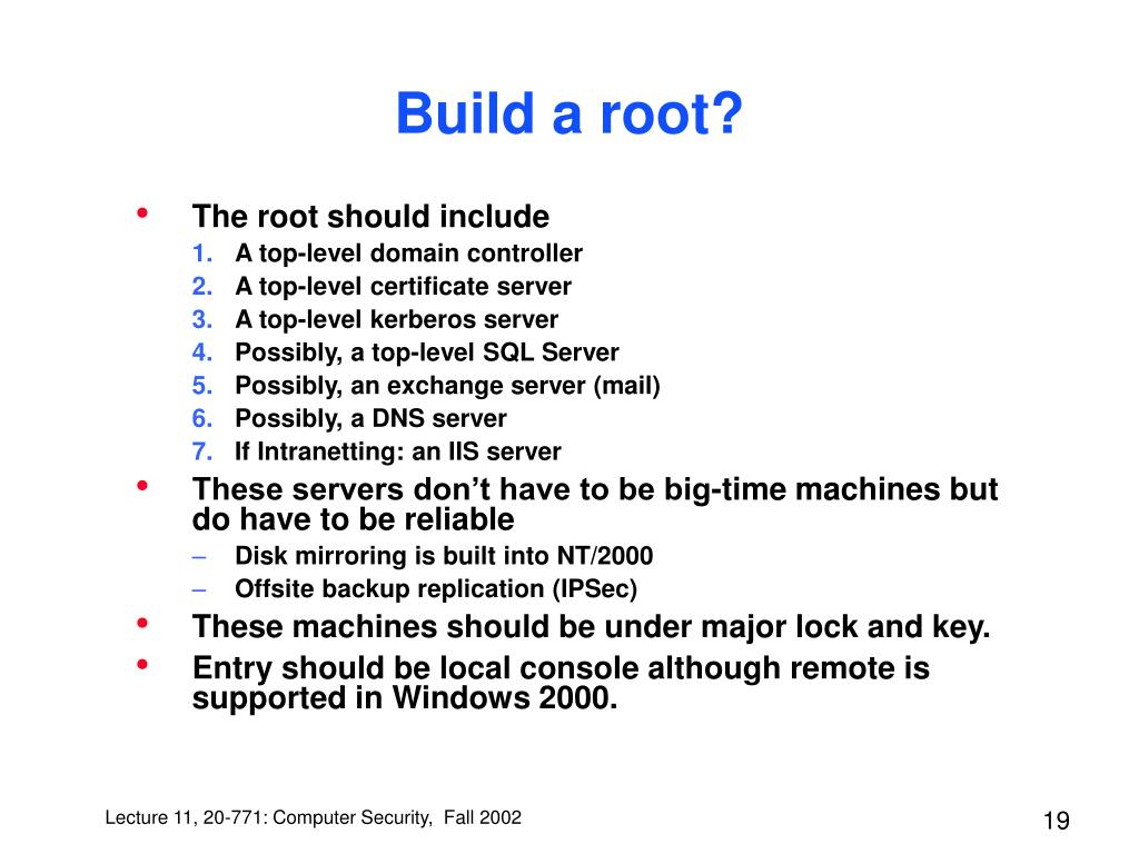 Build a root?
