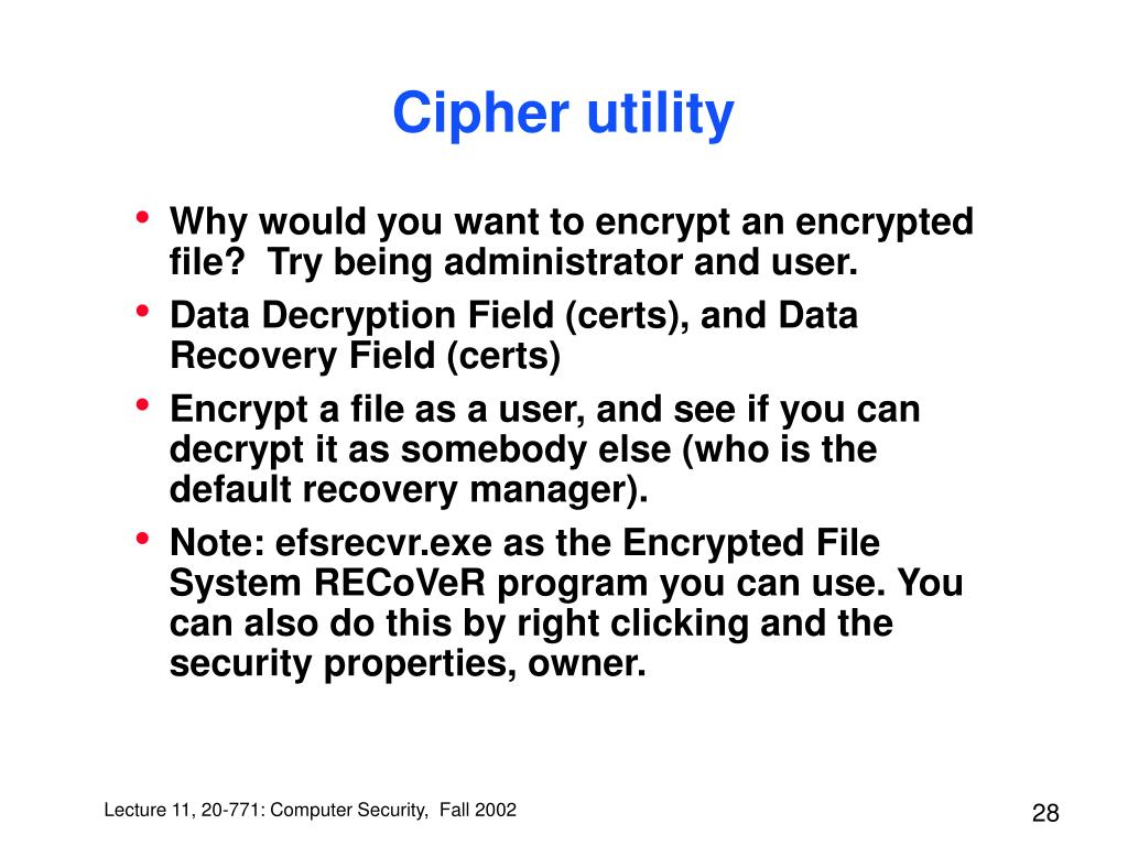Cipher utility