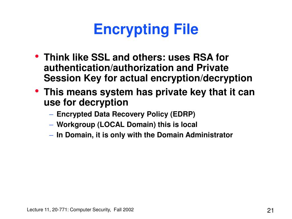 Encrypting File