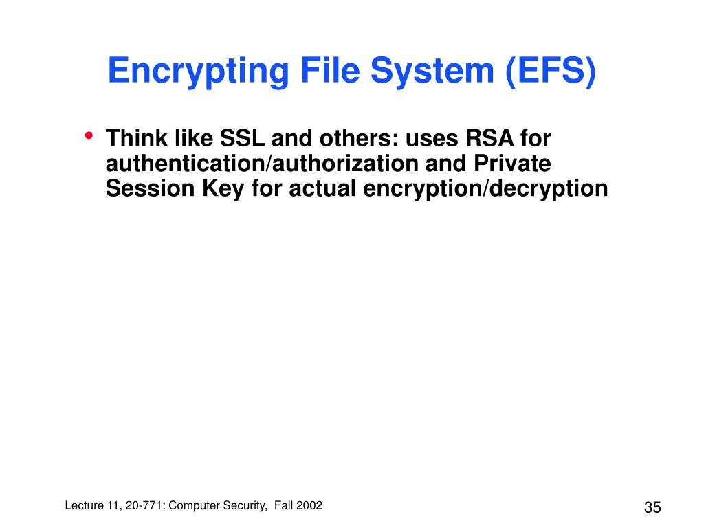 Encrypting File System (EFS)