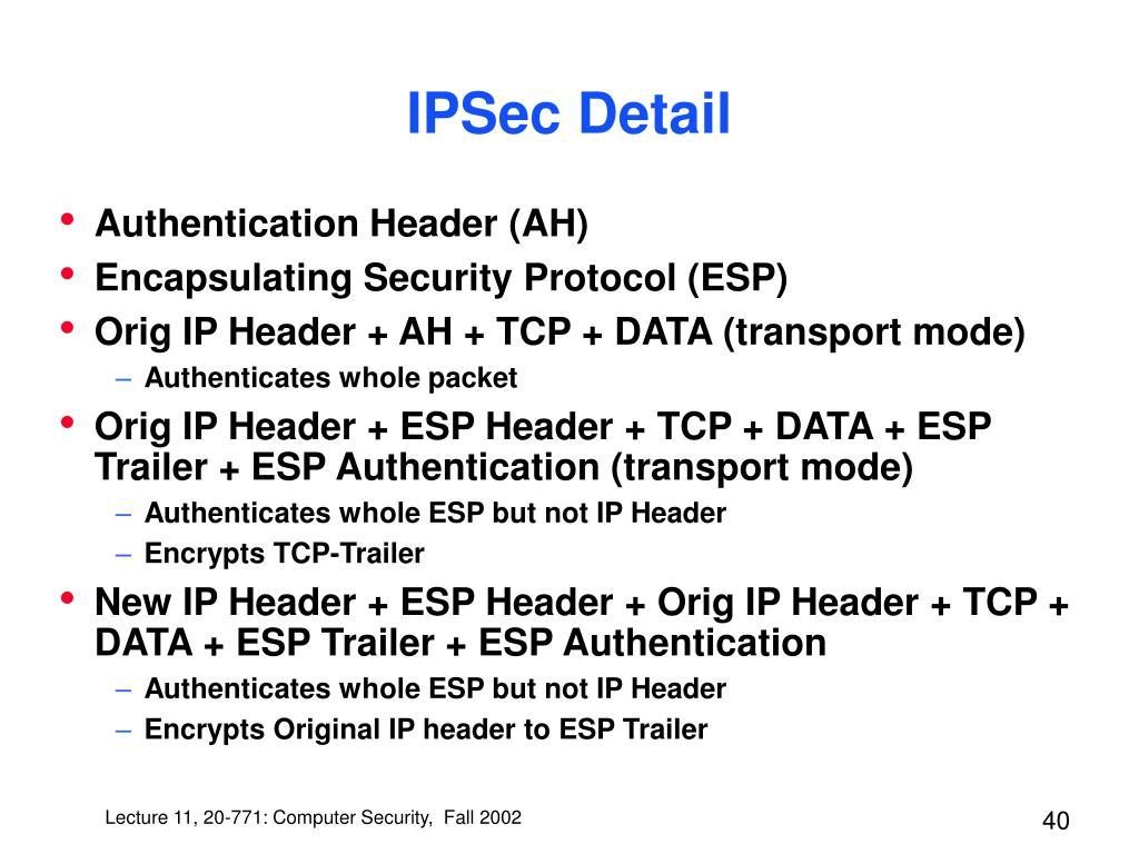 IPSec Detail