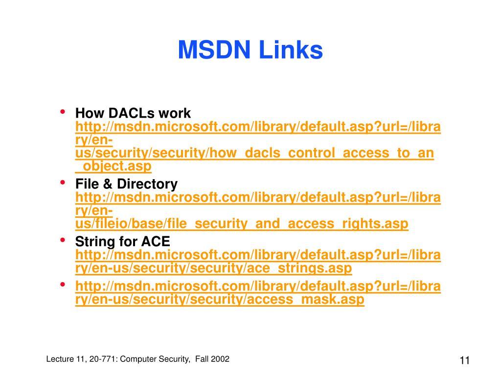 MSDN Links