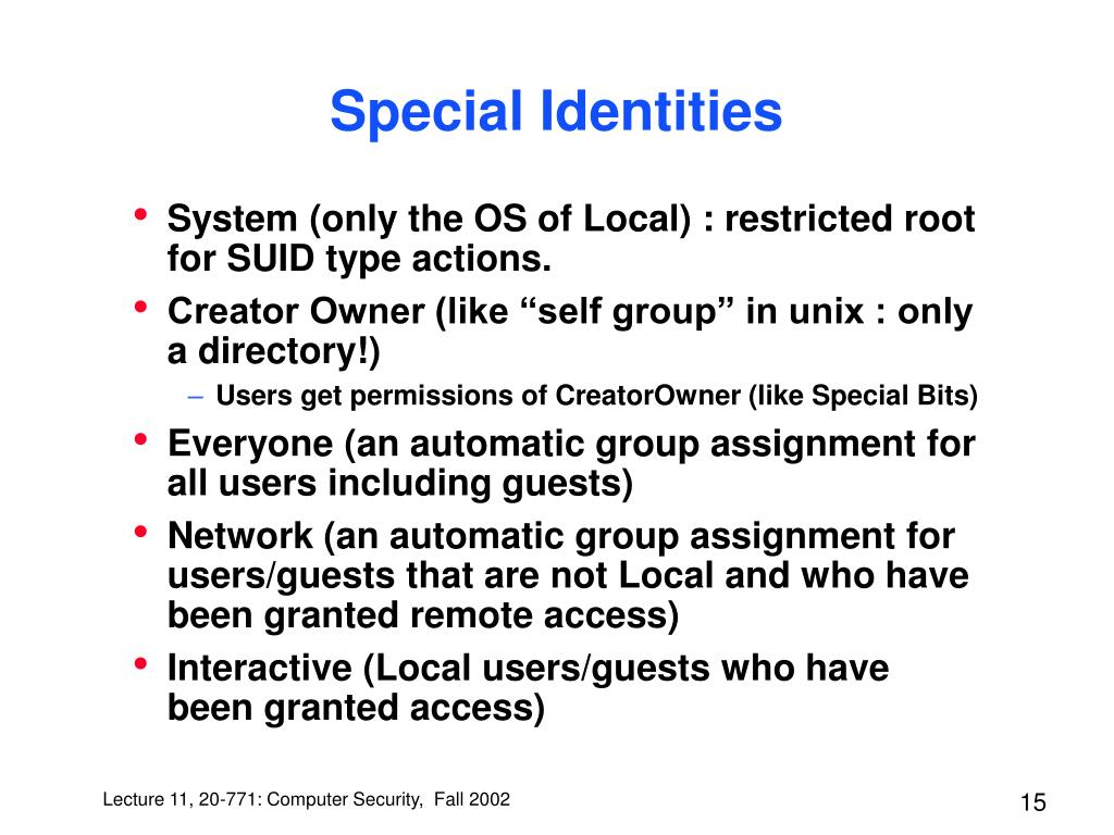 Special Identities