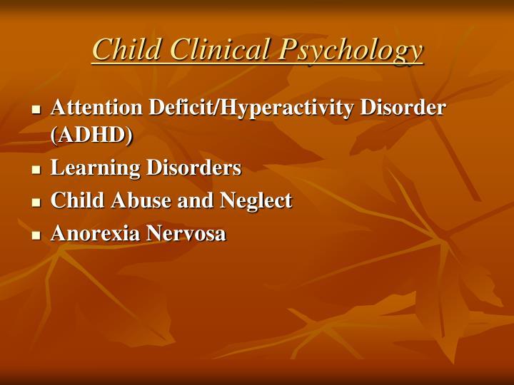 Child Clinical Psychology